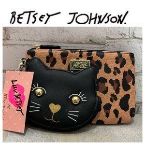 Betsey Johnson Leopard Two Piece Wristlet NWT